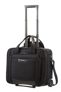 "Samsonite Pro-DLX 4 Rolling Tote 16.4"" Black medium 