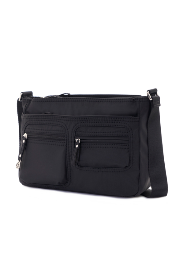 Samsonite Mooval Horizontal Shoulder Bag+Flap Black large | Samsonite