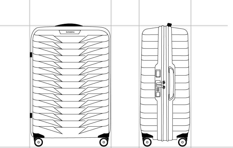PROXIS™ SPINNER 69/25  dimension | Samsonite