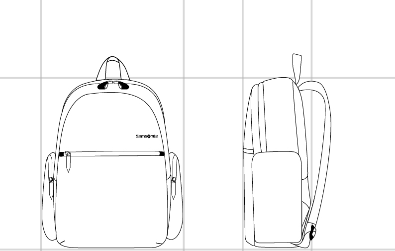 "POLYGON Backpack 14.1""  dimension 