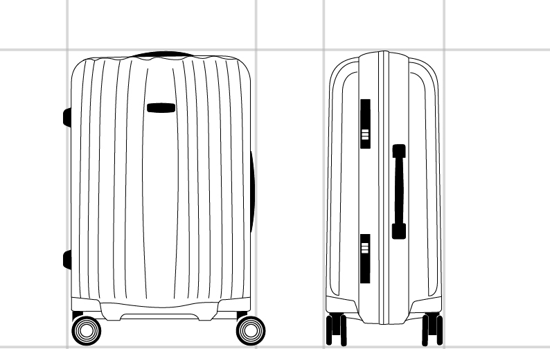 Spinner 55/20 FR  dimension | Samsonite